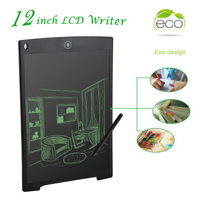 "12"" LCD eWriter Tablet Writing Drawing Pad Memo Message Board for Children AH321"