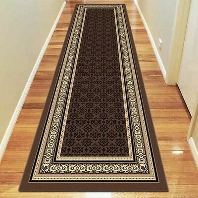 NEW Saray Rugs Iconography Oriental Runner Rug in Beige, Black, Brown, Grey, Red
