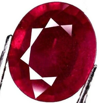 NATURAL OVAL-CUT RED RUBY GEMSTONE LOOSE LARGE 12.4 x 10.6 mm. LOVELY COLOUR GEM