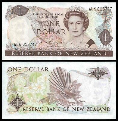 New Zealand 1 DOLLAR Sign Russell ND (1985-89) P 169b UNC