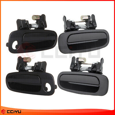 4Pcs Outside Black Right Left Front Rear Outer Door Handles For 98-02 Corolla