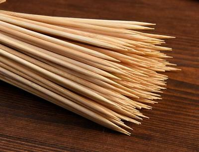 100X Wooden Bamboo BBQ Skewers Fork Disposable Meat Food Grill Sticks 30cm