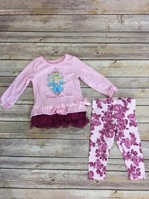 Disney Cinderella Baby Girl Infant 9 Months Long Sleeve Outfit