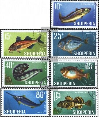 Albania 1131-1137 (complete issue) used 1967 Fish