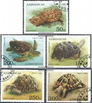 Aserbaidschan 223-227 (complete issue) used 1995 Turtles