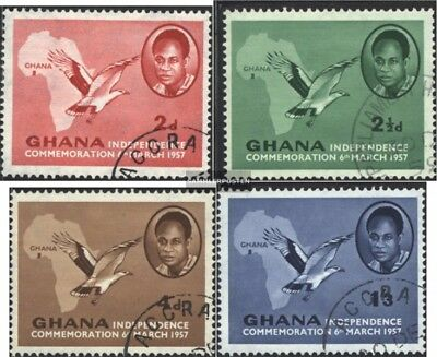 Ghana 1-4 (complete issue) used 1957 independence celebration