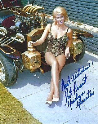 Pat Priest signed The Marilyn Munsters 8x10 Photo. Exact Photo Proof. Mannix