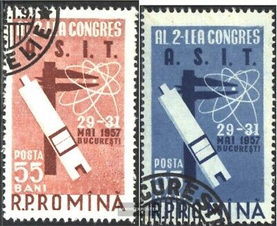 Romania 1645-1646 (complete issue) used 1957 Engineer-congress