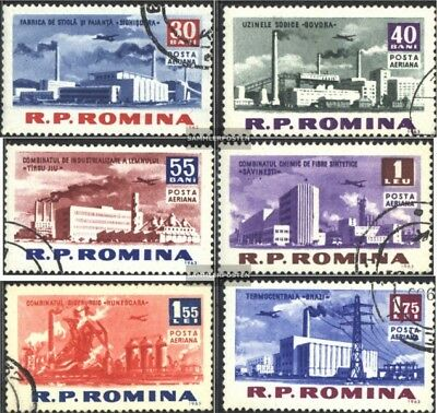 Romania 2137-2142 (complete issue) used 1963 Buildings of Socia