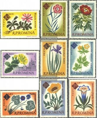 Romania 2020A-2028A (complete issue) used 1961 100 J. Botanical
