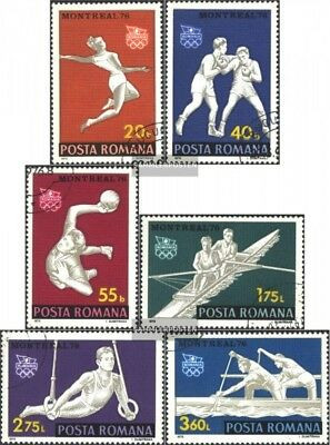 Romania 3350-3355 (complete issue) used 1976 olympic. Summer, M
