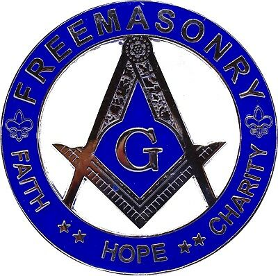 Masonic Hope Faith Charity Car Emblem FREEMASON Decal 3""