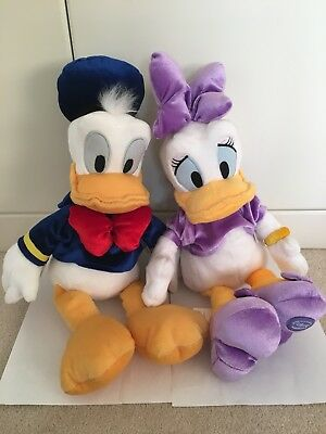"Donald and Daisy Duck 17"" Soft Toys / Plushes ~ Disney Store ~ New with Tags"