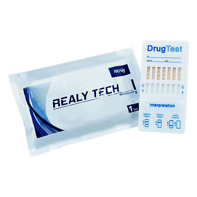 7 in 1 Drug Testing Kit, Urine Strip Home Test Set Cannabis Cocaine Speed & More