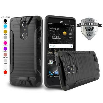 buy online cf332 04621 FOR [ZTE BLADE Spark (Z971)] Phone Case [Brushed Series] Shockproof Hybrid  Cover