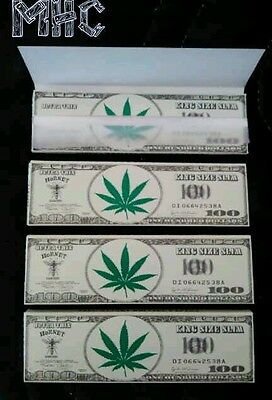 4 Books! HORNET King Size Cigarette Rolling Papers!