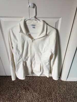 Old Navy Womens Fleece Jacket Size Large Off White/cream Color