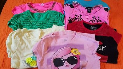 Girls Spring & Summer Shirts (Lot 7) Size 7/8, Justice, Jordache, Children Place