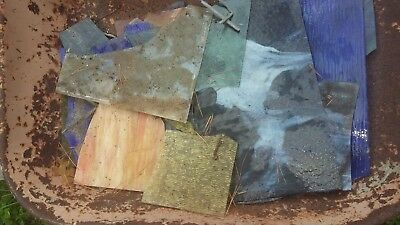 stained (leaded) glass pieces in many shapes, sizes, and colors - 5.00 per pound