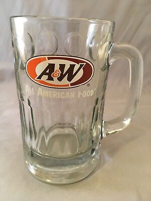 Vintage A&W Root Beer All American Food Heavy Glass Mug Cup Stein