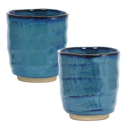 "1 Piece of Japanese 3.25""D x 3.5""H Porcelain Blue Sushi Tea Cup, Made in Japan"