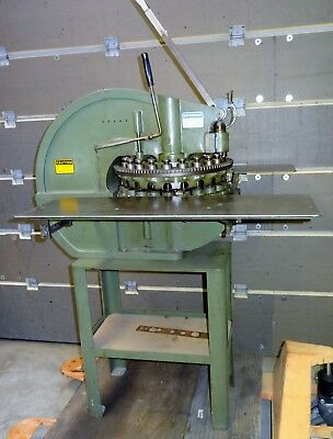 Di-Acro No.18 Turret Punch w/ Factory Stand & Table - Local delivery available