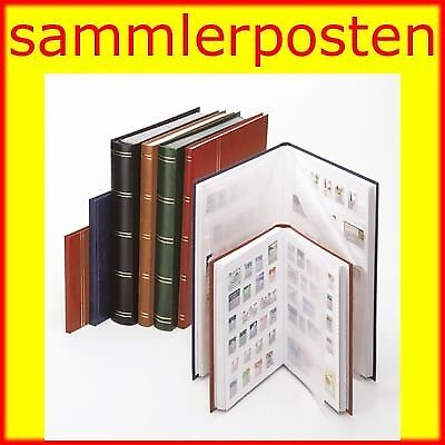 Lindner 1158-R Stockbook STANDARD with 16 white pages, 165 x 220 x 15 mm, red