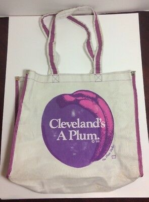 Cleveland's a Plum Tote Bag. No New York reference. Plain Dealer promo **RARE**