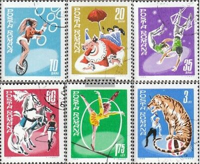 Romania 2790-2795 (complete issue) used 1969 Circus