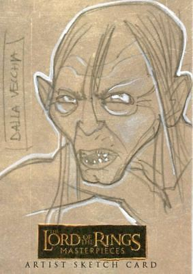 Lord of Rings Masterpieces Sketch Card by Dalla Vecchia  Gollum