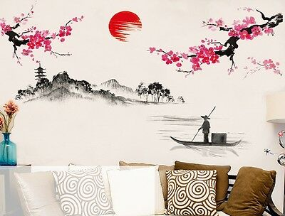 Chinese Style Sakura Anese Pink Cherry Blossom Tree Decor
