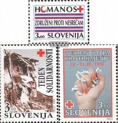 slovenia Z1,Z2,Z3 (complete issue) unmounted mint / never hinged 1992 Red Cross