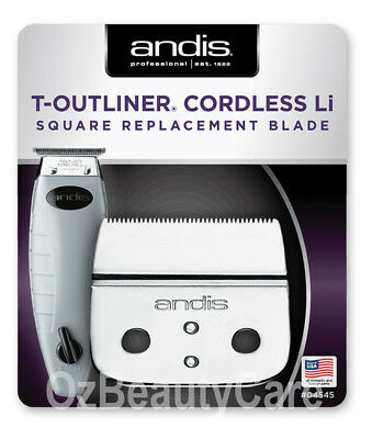 Andis Replacement Square Blade Set For Cordless T-Outliner Li Trimmer (#04545)