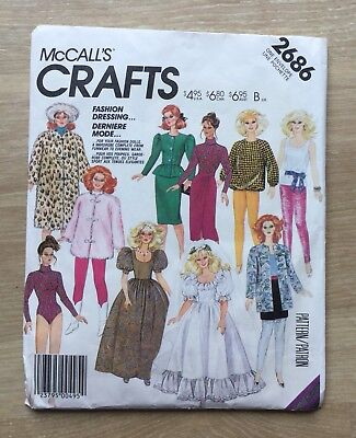 Sewing Pattern For Barbie Doll Clothes 550 Picclick Uk