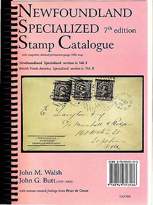 Newfoundland Specialized Stamp Catalogue 7th Edition Vol.1 w/Postcards 2010 Cvs