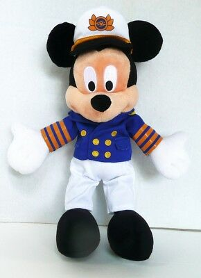 New Authentic Walt Disney Cruise Line Caption Mickey Mouse Plush 12 Inch No Tag