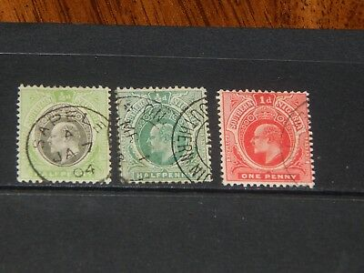 Southern Nigeria stamps for sale - 3 used early stamps - nice group !!
