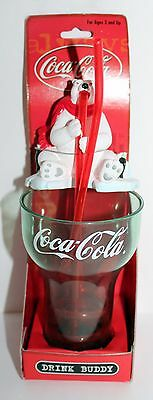 2000 Coca-Cola Drink Buddy Kid Cup with Straw Cup and Polar Bear Buddy