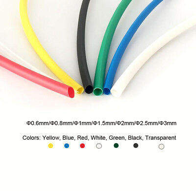 Heat Shrink Heatshrink Shrinkable Tube Tubing Wire Sleeve (Φ0.6mm-Φ3mm)Diameter
