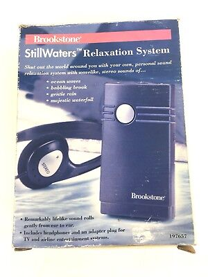 Brookstone Stillwasters Relaxation System 197657, Complete w/ Box!
