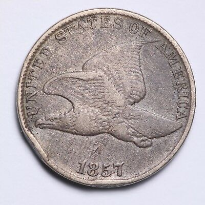 FINE 1857 Flying Eagle Cent Penny FREE SHIPPING!