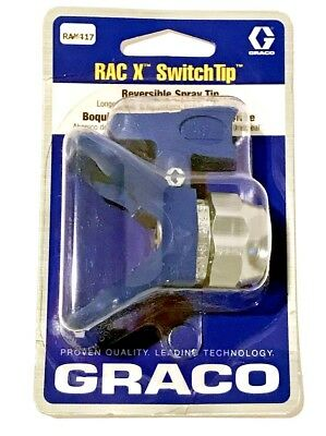 GRACO RAC X 417 Blue Spray Tip & Guard Combo RAX417 (Includes LTX417 & 246215)