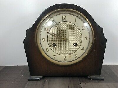 Authentic Vintage Bentima Striking Mantel Clock 1930'S Needs A Key Great Britain