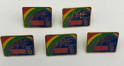 (5) Mcdonald's 1968-1996 Aina Haina Hawaii Pin Pinback Lot Limited Edition