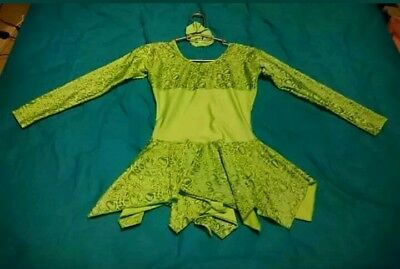 Lovely Jenetex Dress Size 3 With Scrunchie Ice Skating Dancing Etc