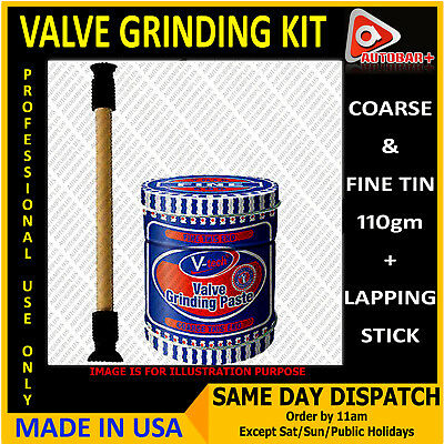 Valve Grinding Kit Set-Lapping Stick Tool+Coarse & Fine Grade Paste