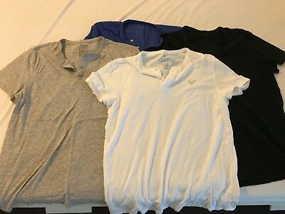 Lot of 4 AEO ( American Eagle ) Legend henley t-shirts Mens Large