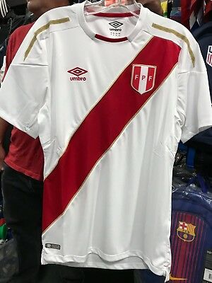 f799bd4c3 PERU NATIONAL SOCCER TEAM OFFICIAL UMBRO JERSEY - RUSSIA 2018 Size SMALL