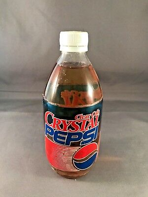 Original Crystal Clear Cola Pepsi Vintage Glass Bottle 16 oz Expired