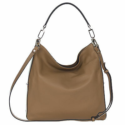 ddb088813c3d GIANNI CHIARINI ITALIAN Made in Italy Beige Pebbled Leather Slouchy ...